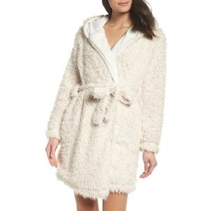 Topshop Teddy Hooded Faux Fur Robe
